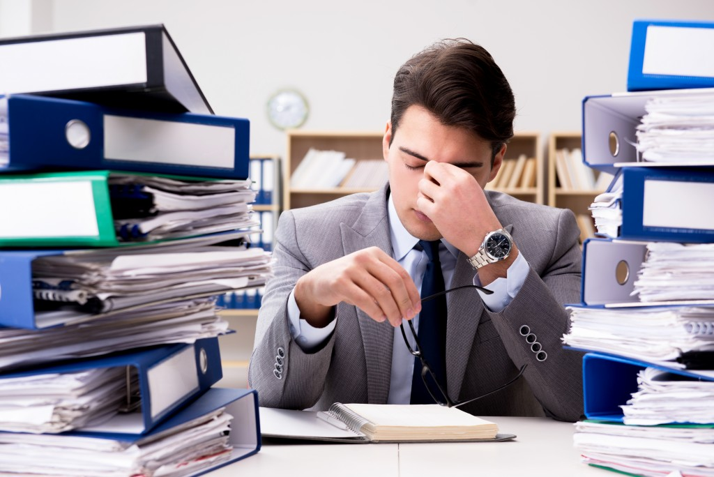 Employee under stress due to excessive work