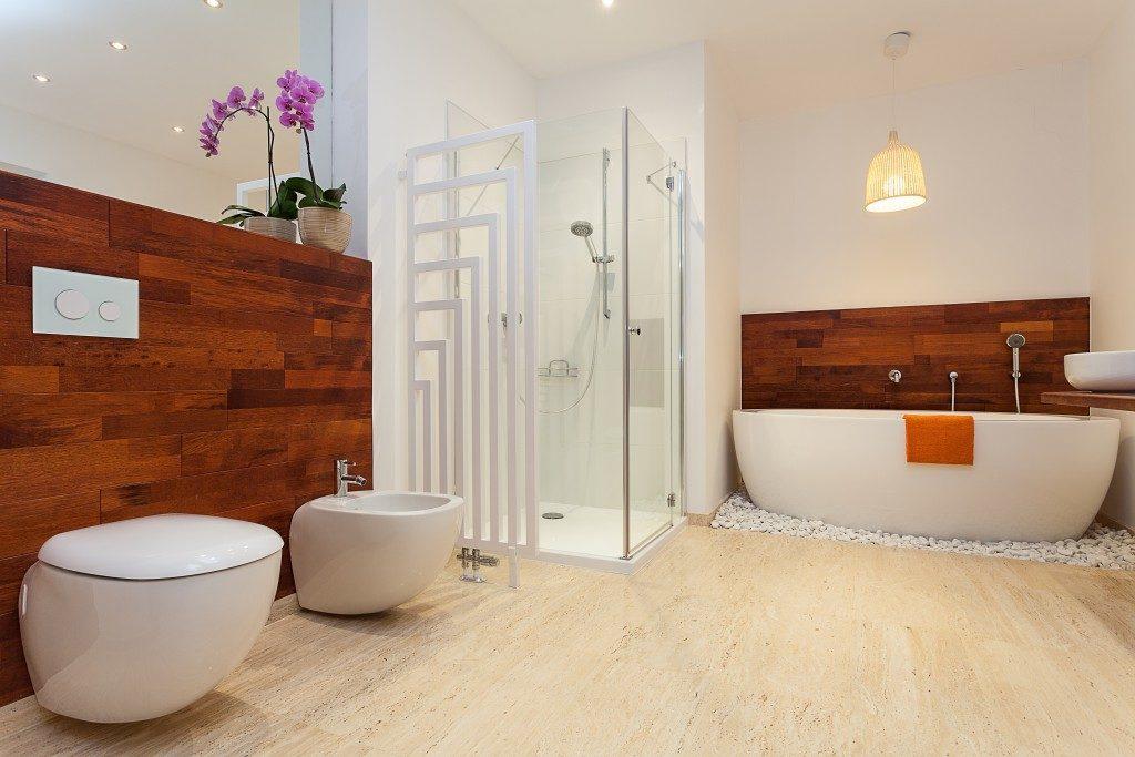 modern luxury bathrooom with bathtub