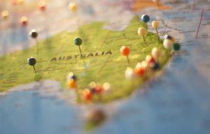 pin on australia map